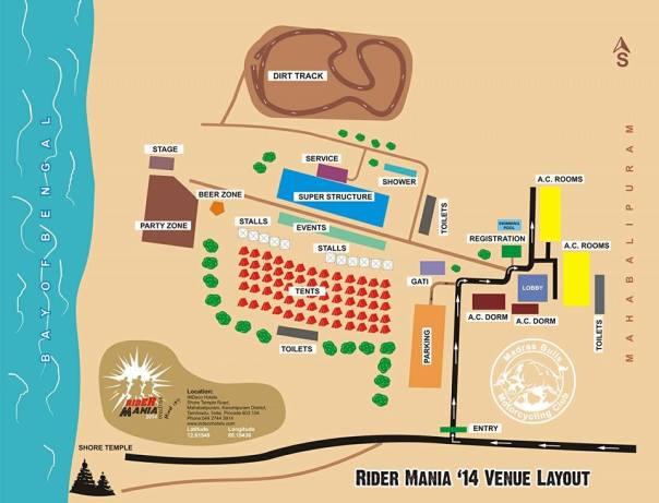 Rider Mania 2014 venue
