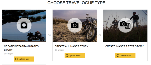 Choose Travelogue Type